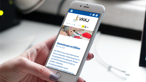 Barrierefreie responsive Website des VKKJ