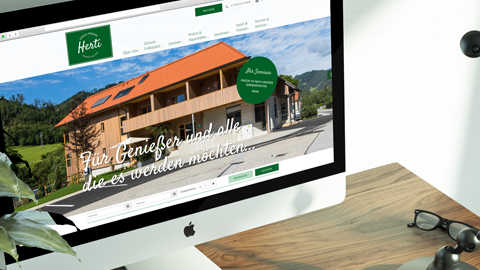 Responsive Website der Genuss-Pesnion Herti