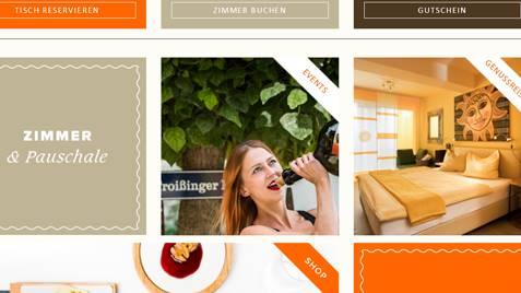 Homepage und Onlineshop im responsive Design